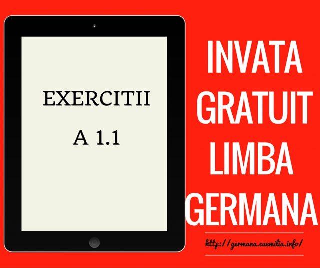 A1.1- Exerciții – 1